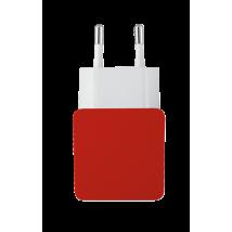 Зарядное устройство 5W Wall Charger with 2 USB ports - red
