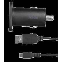 Автомобільний зарядний пристрій 5W with micro-USB cable 1m (Black)