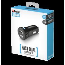 Интеллектуальное зарядное  20W Fast Dual Car Charger for phones and tablets