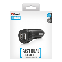 Зарядное устройство 2x12W Fast Dual USB Car Charger for phones & tablets