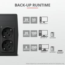 ДБЖ Trust Paxxon 800VA UPS з двома розетками