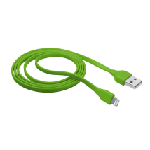 Кабель Flat Lightning Cable 1m - green