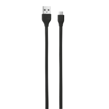 Кабель Flat Micro-USB Cable 1m (Black)