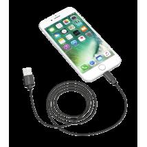 Кабель Lightning Round Cable 1m MFI (Black)
