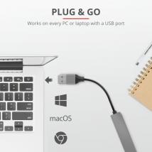 USB хаб Trust Halyx Aluminium 4-Port Mini USB Hub