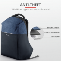 """Рюкзак с защитой от кражи Nox Anti-theft Backpack for 16"""" laptops - blue"""