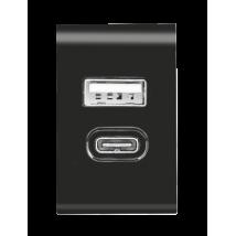 Зарядний пристрій Fast Dual USB-C & USB 17W (Black)