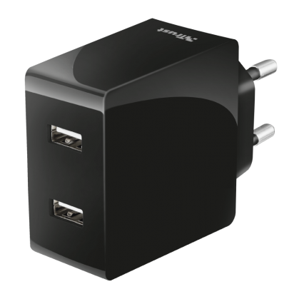 Зарядний пристрій 2x12W Fast dual USB wall charger