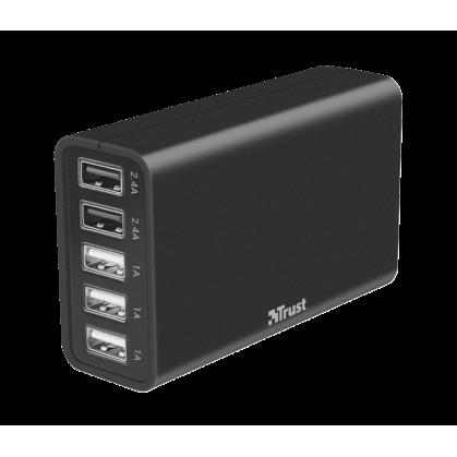 Зарядний пристрій 5xUSB Port 40W Fast Charger
