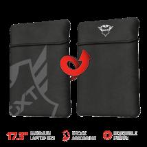 """Двосторонній чохол для ноутбука GXT +1244 Lido 17.3 """"Laptop Sleeve - black"""