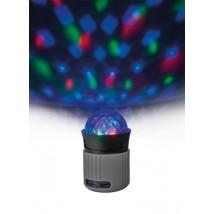 Портативна бездротова акустика Dixxo Go Wireless Bluetooth Speaker with party lights grey