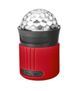 Портативная беспроводная акустика Dixxo Go Wireless Bluetooth Speaker with party lights red