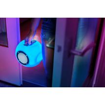 Бездротова акустика Lara Wireless Bluetooth speaker with multi-colour party lights - white