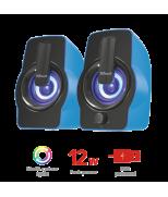 Колонки Gemi RGB 2.0 Speaker Set - blue