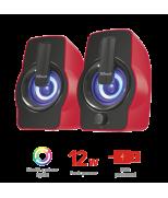 Колонки Gemi RGB 2.0 Speaker Set - red