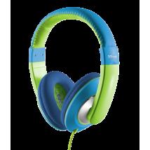 Дитячі навушники Trust Sonin kids headphone - blue / green