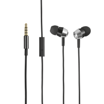Гарнитура Crystal In-ear Headphones with microphone & remote - black