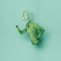 Гарнітура Fyber headphone Sports Green