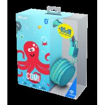 Дитячі бездротові навушники Comi Bluetooth Wireless Kids Headphones - blue