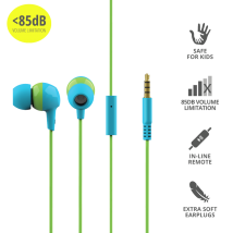 Детские наушники Trust Buddi Kids In-Ear Headphones- blue