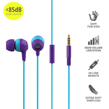 Дитячі навушники Trust Buddi Kids In-Ear Headphones- purple