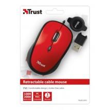 Мышь Yvi Retractable Mouse - red