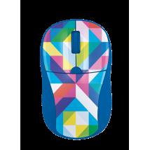 Миша Primo Wireless Mouse blue geometry