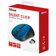 Миша TRUST Mydo silent click wireless mouse blue