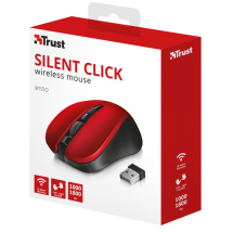 Мышь TRUST Mydo silent click wireless mouse red