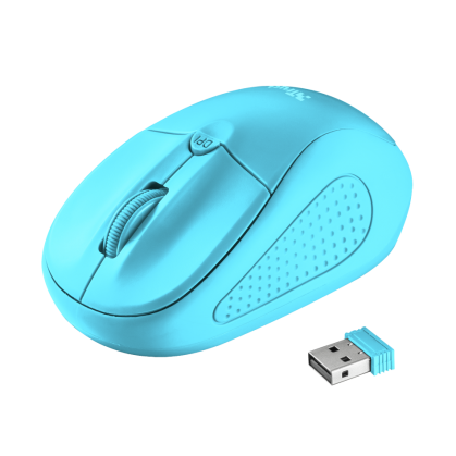 Primo Wireless Mouse - neon blue