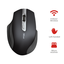 Мышь для левой руки Trust Lagau Left-handed Wireless Mouse