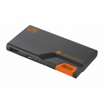 Power Bank 3000T - thin portable charger black-orange