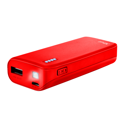 Power Bank Primo 4400 - matte red