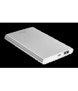 Ультратонкое портативное зарядное устройство Ula Thin Metal Powerbank 4000 mAh