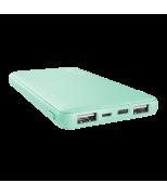 Trust Primo Ultra-thin Powerbank 10.000 mAh - Turquoise