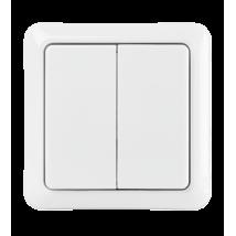 Подвійний бездротової настінний вимикач AWST-8802