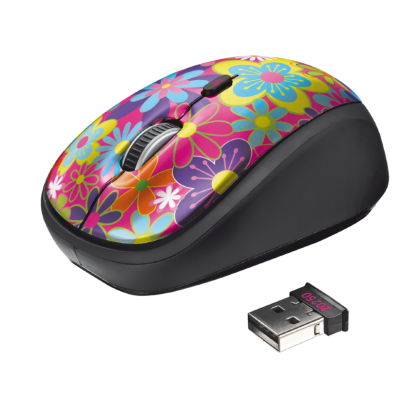 Мышь TRUST Yvi Wireless Mouse flower power