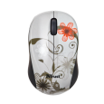 Миша Vivy Wireless Mini Mouse GREY FLOWERS