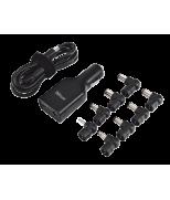 Зарядний пристрій 90W PLUG & GO MICRO LAPTOP CHARGER FOR CAR USE - BLACK