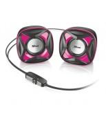 Колонки Xilo Compact 2.0 Speaker Set - pink (21181-2)