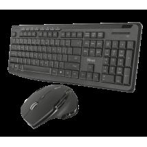 Клавиатура+мышь Evo Silent Wireless Keyboard with mouse UKR