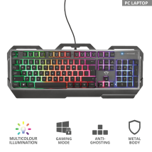 Игровая клавиатура Trust GXT 856 Torac Illuminated Gaming Keyboard