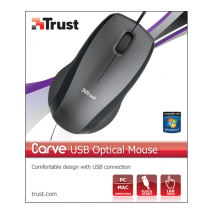 Миша Carve USB Optical Mouse Black