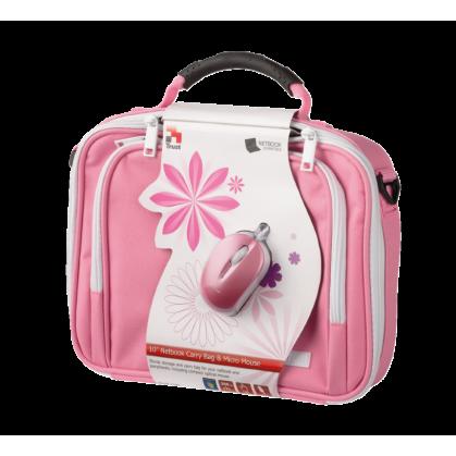 """Сумка для ноутбука 10 """"Netbook Bag & Mouse Bundle Pink"""